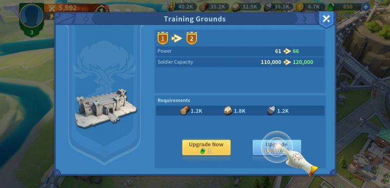 infinity kingdom training grounds