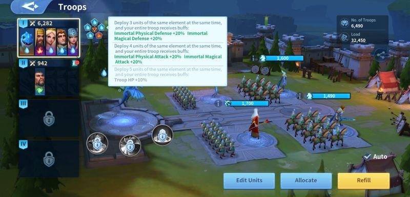 infinity kingdom troops