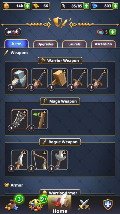 rivengard weapons and armor