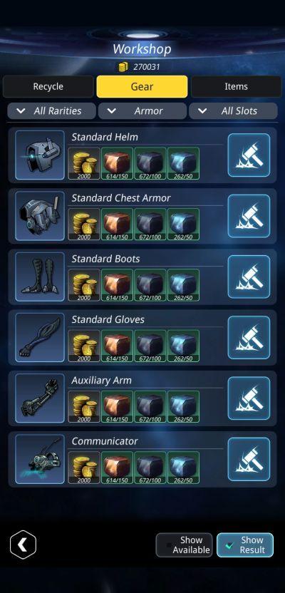 stellar hunter gears