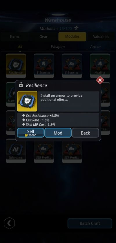 stellar hunter resilience