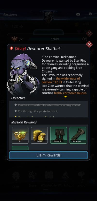 stellar hunter story missions