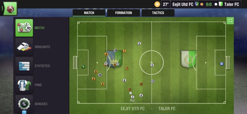 top eleven 2021 match view
