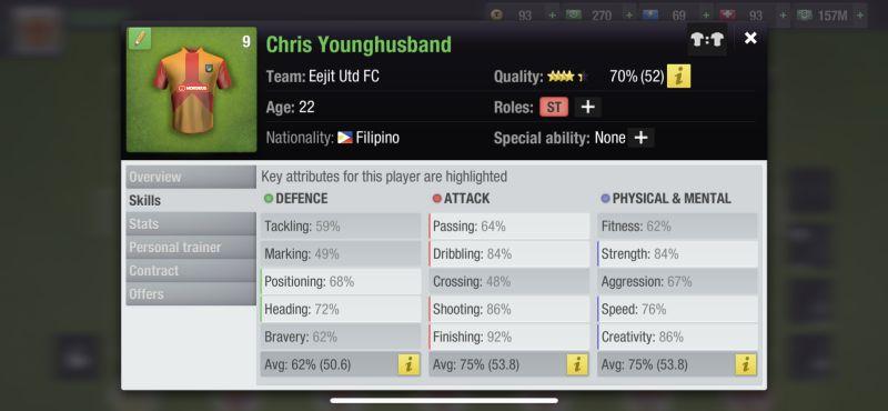 top eleven 2021 player skills