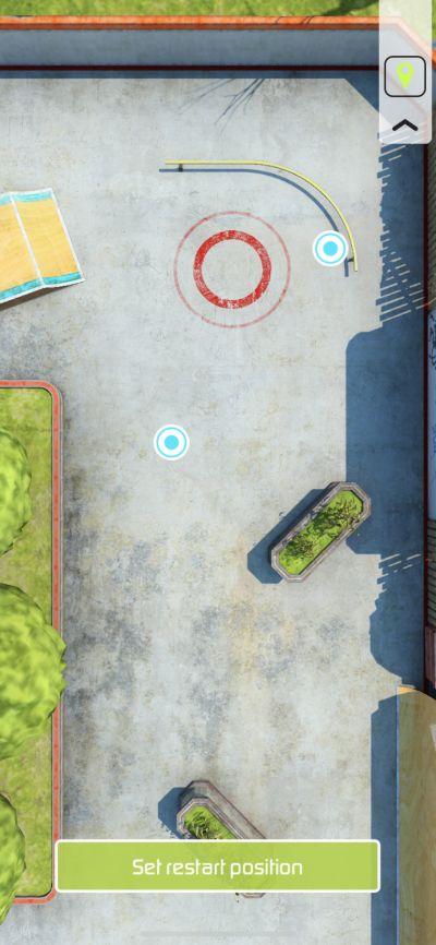 touchgrind skate 2 restart position