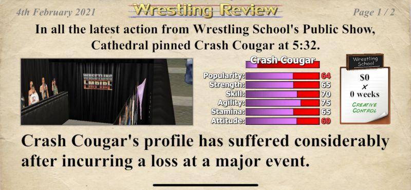wrestling empire match result