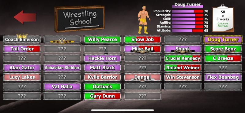 wrestling empire wrestler stats