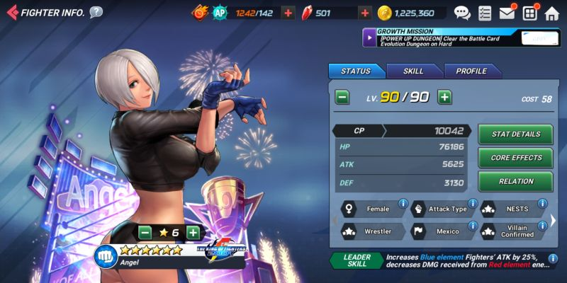 angel the king of fighters allstar