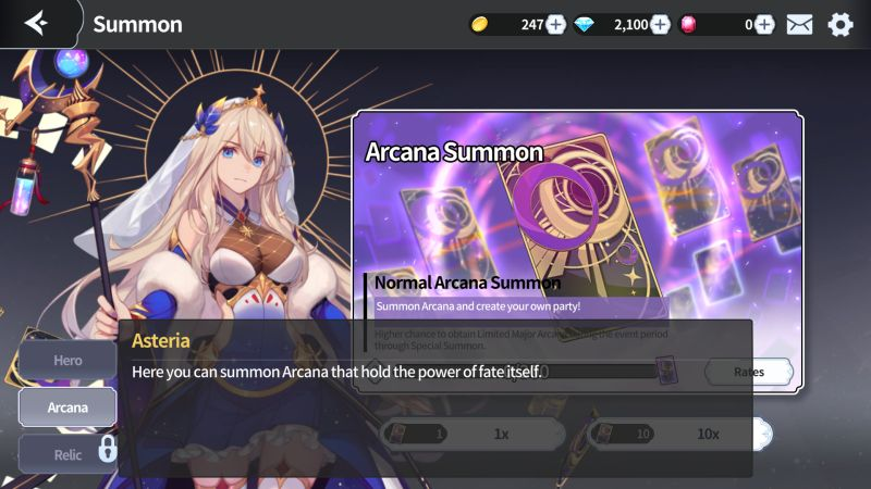 arcana tactics arcana summon