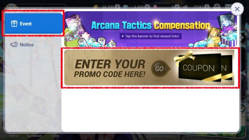arcana tactics coupon code step 2b