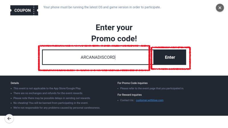 arcana tactics coupon code step 3b