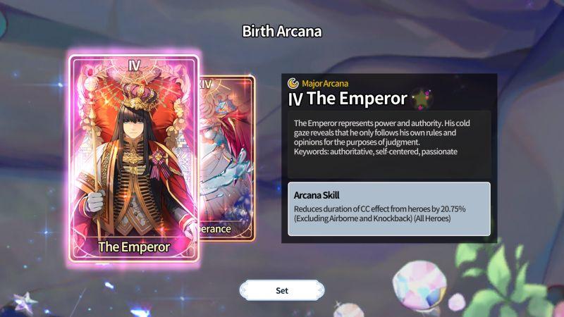 arcana tactics the emperor