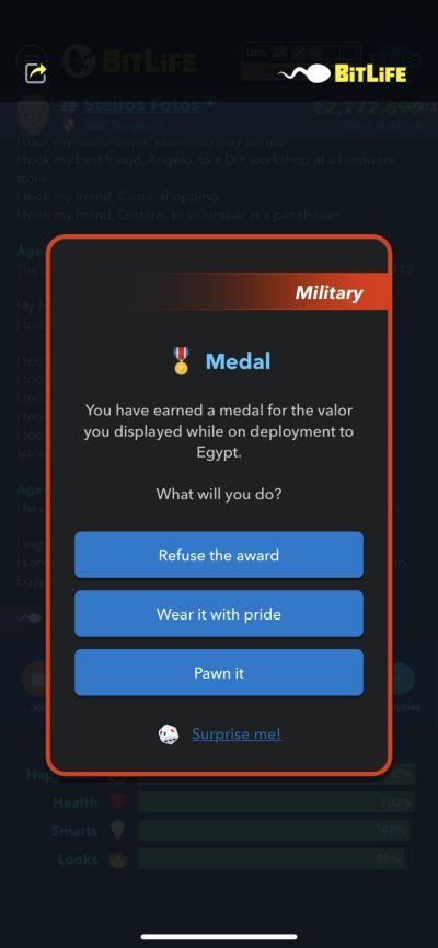 bitlife medal