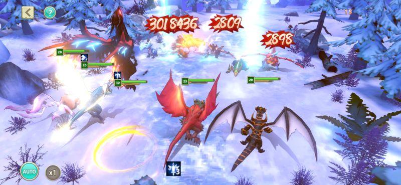 dragon tamer mystic mountain fight