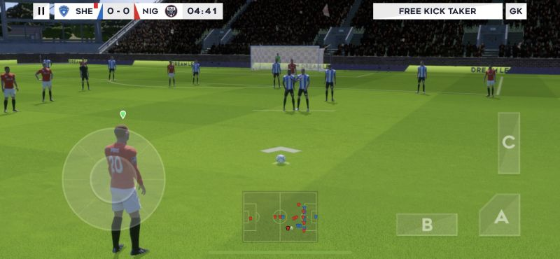 dream league soccer 2021 free kick tips