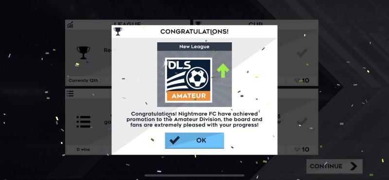 dream league soccer 2021 league promotion