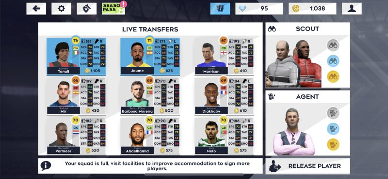 dream league soccer 2021 live transfers