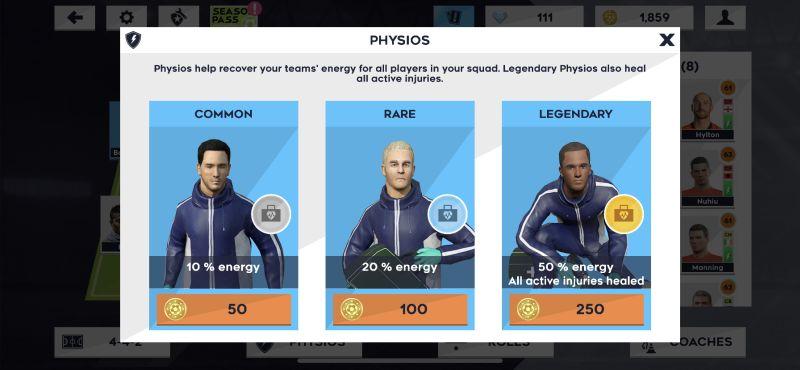 dream league soccer 2021 physios