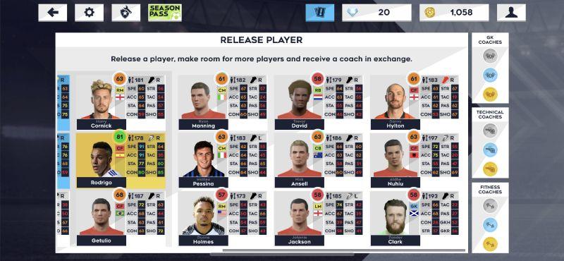 dream league soccer 2021 releasing player
