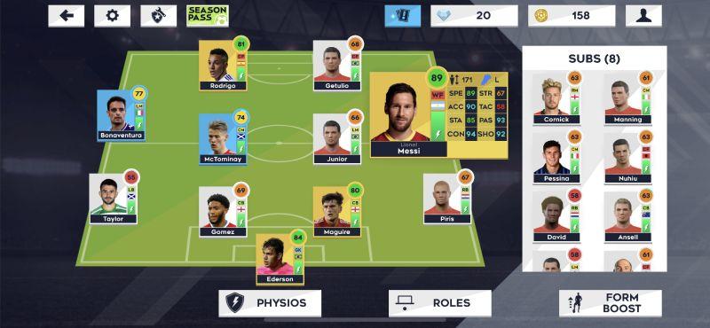 dream league soccer 2021 team management