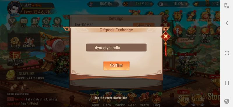 dynasty scrolls redeeming code step 4