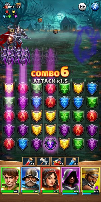 empires & puzzles combo attack