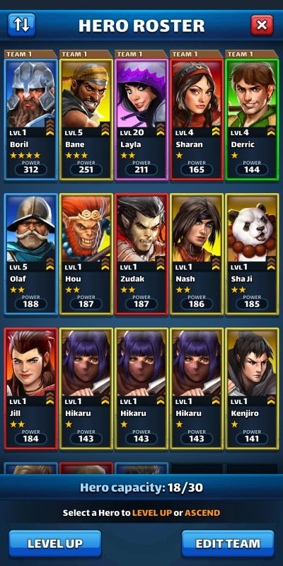 empires & puzzles hero roster