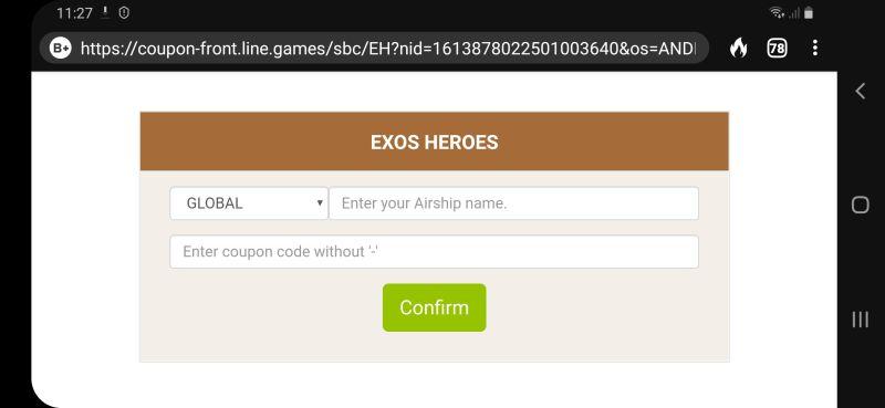 exos heroes gift code step 4