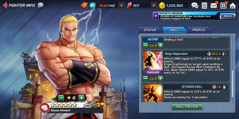 geese howard the king of fighters allstar
