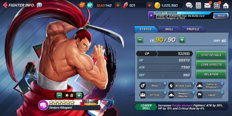 genjuro kibagami the king of fighters allstar
