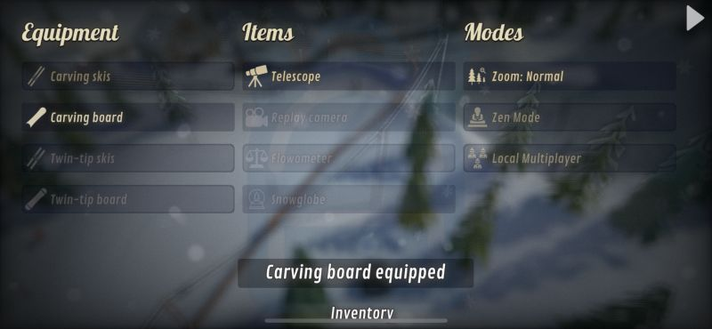 grand mountain adventure inventory