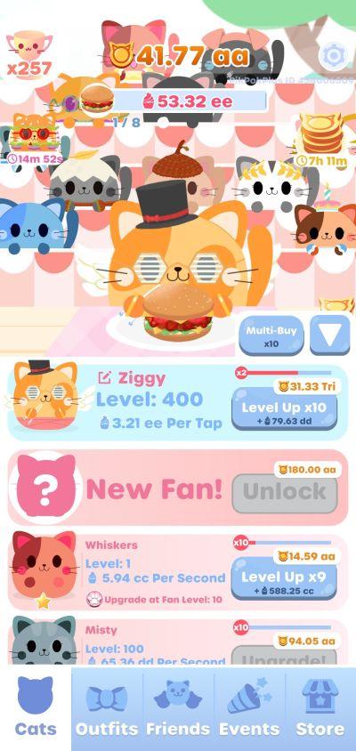 greedy cats kitty clicker cat upgrade
