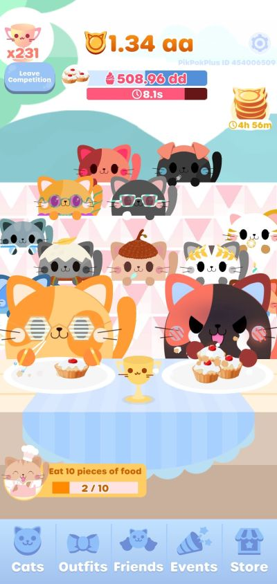 greedy cats kitty clicker eating speed