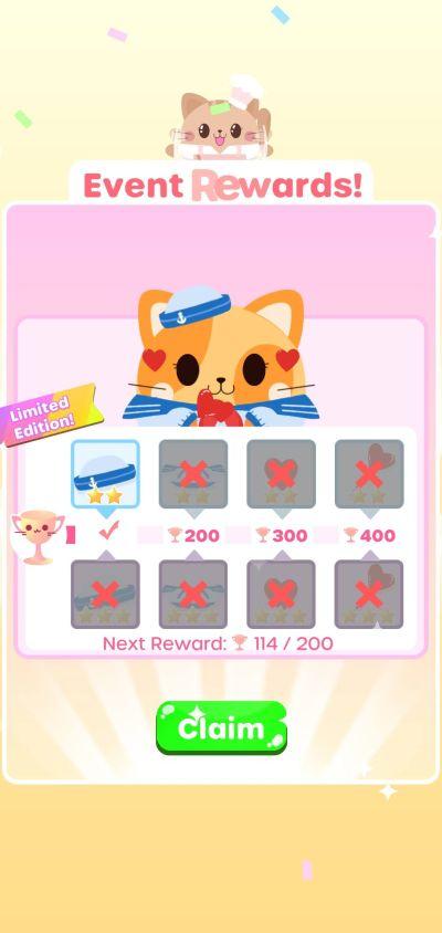 greedy cats kitty clicker event rewards