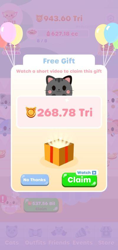 greedy cats kitty clicker free gift