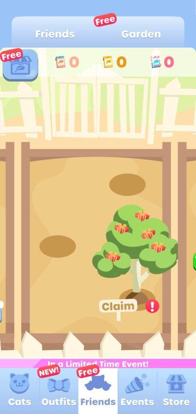 greedy cats kitty clicker garden
