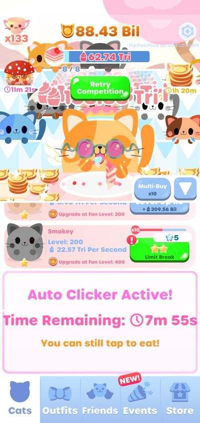 greedy cats kitty clicker limit break