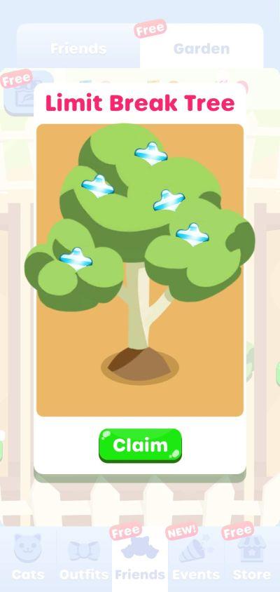 greedy cats kitty clicker limit break tree