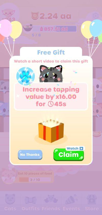 greedy cats kitty clicker tapping value