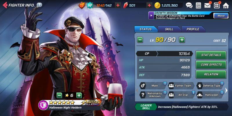 halloween knight heidern the king of fighters allstar