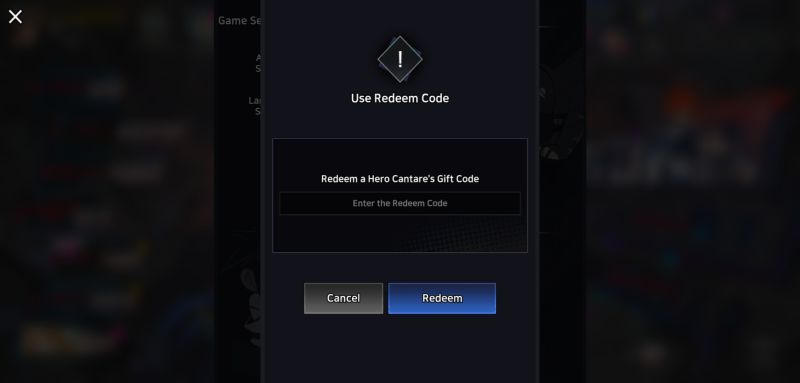 hero cantare redemption code step 4