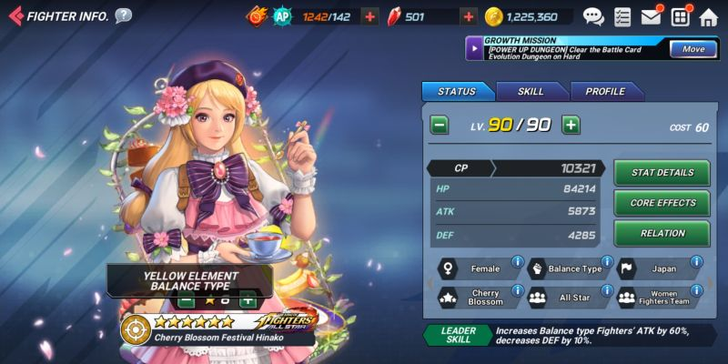 cherry blossom festival hinako the king of fighters allstar