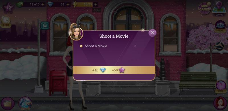 hollywood story fashion star shooting a movie