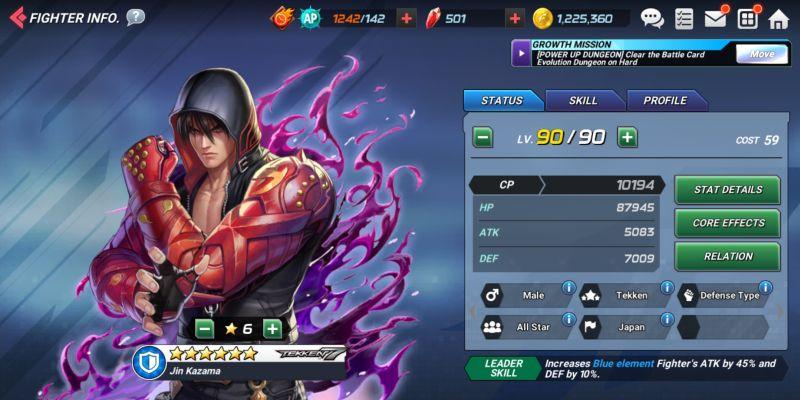 jin kazama the king of fighters allstar