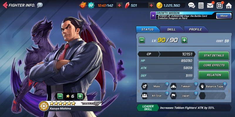 kazuya mishima the king of fighters allstar