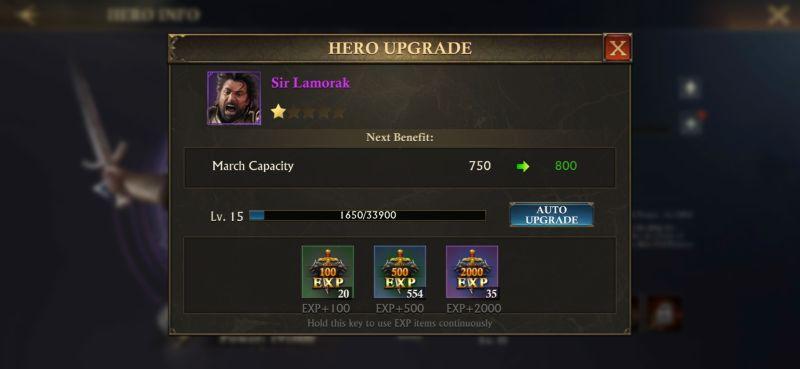 king of avalon hero upgrade