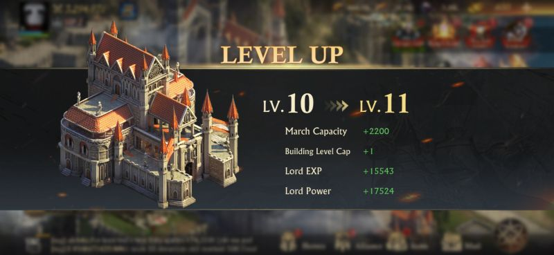 king of avalon stronghold leveling up