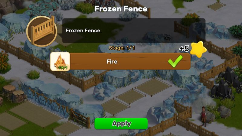 klondike adventures frozen fence