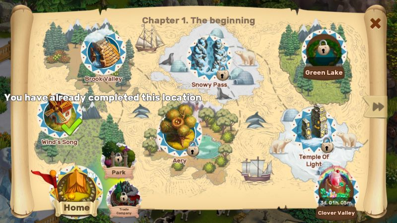 klondike adventures map