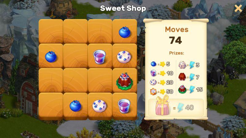 klondike adventures sweet shop